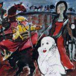 Dietrich Kaufmann, Corrida, 2005, Feder, Tusche, Acryl auf Karton, 60 x 80 cm