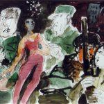 Dietrich Kaufmann, Steh auf!, 2005, Feder, Tusche, Acryl auf Karton, 60 x 80 cm