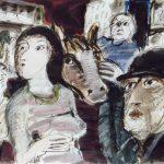 Dietrich Kaufmann, Du paßt so gut zu mir!, 2005, Feder, Tusche, Acryl auf Karton, 60 x 80 cm