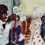 Dietrich Kaufmann, Bonjour Catherine!, 2005, Feder, Tusche, Acryl auf Karton, 60 x 80 cm