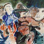 Dietrich Kaufmann, Wenn das Wasser steigt, 2005, Feder, Tusche, Aquarell auf Karton, 60 x 80 cm