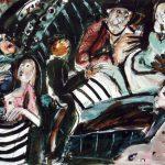 Dietrich Kaufmann, Die Vergiftung, 2004, Feder, Tusche, Acryl auf Karton, 60 x 80 cm